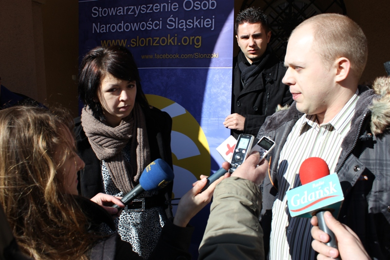 Konferencja prasowa w Opolu (Justyna Nikodem i Karol Rhode)